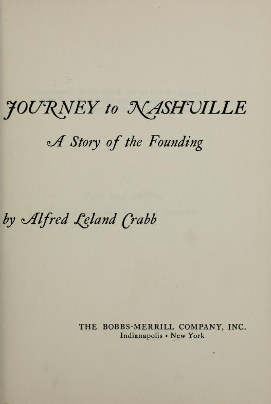 Journey to Nashville by Alfred Leland Crabb