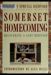 Cover of: Somerset Homecoming | Dorothy Spruill Redford