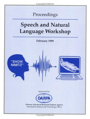 DARPA Speech/Language Proceedings 1989 by DARPA