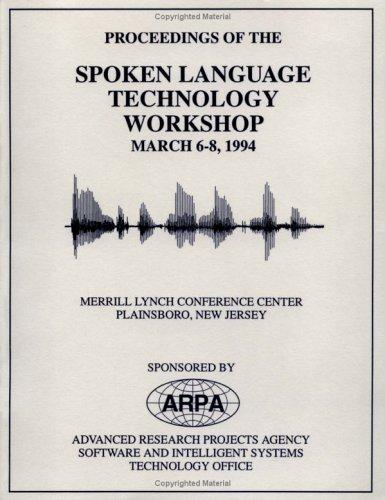 DARPA Speech/Language Proceedings 1994 by DARPA