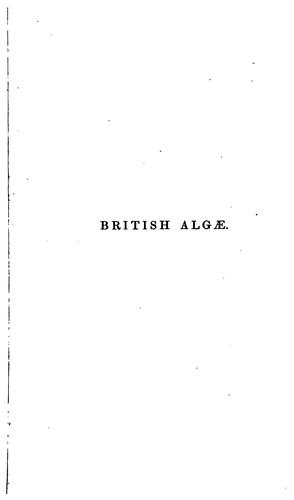 A manual of the British algæ by William Henry Harvey