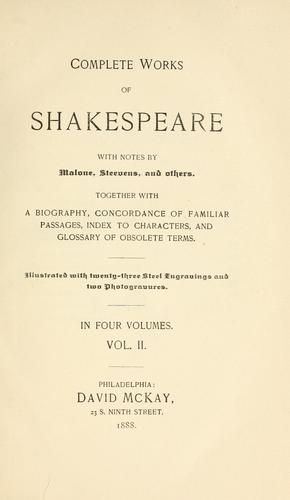 Complete works of Shakespeare by William Shakespeare