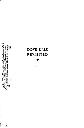 Dove Dale Revisited: With Other Holiday Sketches by Edward Marston