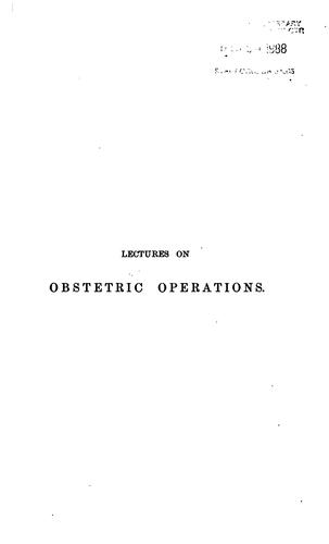Lectures on obstetric operations by Robert Barnes