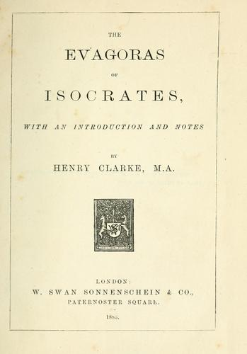 The Evagoras of Isocrates by Isocrates