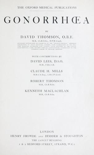 Gonorha by Thomson, David